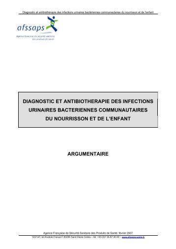 diagnostic et antibiotherapie des infections urinaires ... - Infectiologie