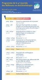 Programme de la 4e Journée des Référents en ... - Infectiologie