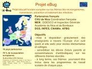Évaluation du projet éducatif scolaire européen e-Bug - Infectiologie
