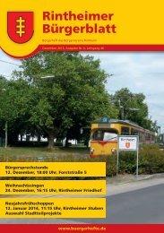 Rintheimer Bürgerblatt - KA-News