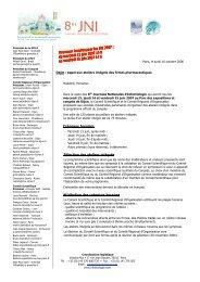 Créneaux horaires Sélection des ateliers intégrés ... - Infectiologie