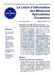 2005-11-25 UEMS News.pdf - Infectiologie