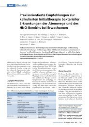 Infektionen der Atemwege - Infekt-Liga