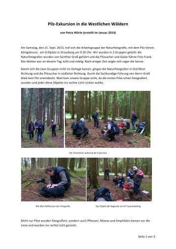Pilz-‐Exkursion in die Westlichen Wäldern - Naturwissenschaftlicher ...