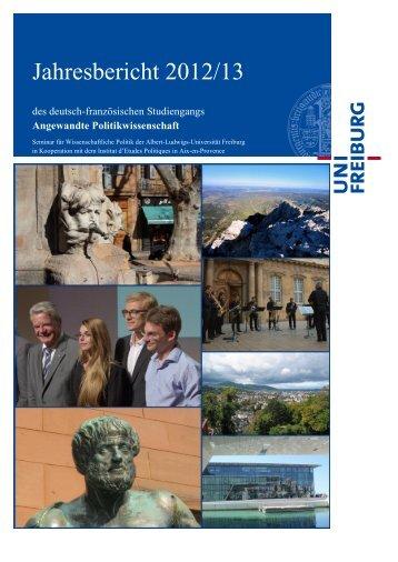 Jahresbericht 2012/13 - Albert-Ludwigs-Universität Freiburg