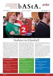 Studieren im [Quadrat]² - AStA Universität Mannheim