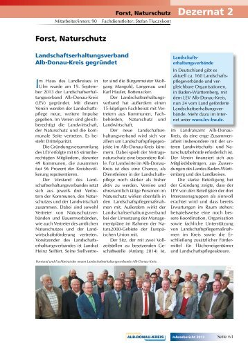 Forst, Naturschutz - Alb-Donau-Kreis
