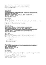 Neuerwerbungsliste Dezember 2013 - Deutsche Hochschule der ...