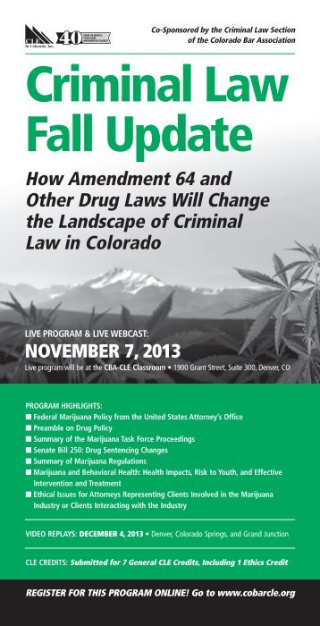 Criminal Law Fall Update - Colorado Bar Association