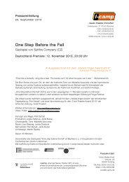 One Step Before the Fall - Neues Theater München
