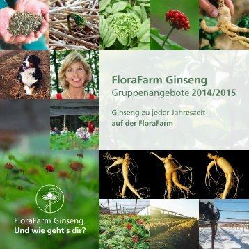 Gruppenbroschüre 2014/15 - Florafarm