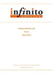 To download our FICTION catalogue, please click ... - Infinito Edizioni