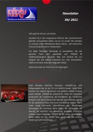 Newsletter 04/ 2011 - Infinity Racing