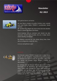 Newsletter 01/ 2013 - Infinity Racing