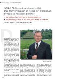 wmd brokerchannel-Vertriebserfolg 2011 - INFINUS AG - Ihr ...