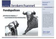 wmd brokerchannel 2010/2011 - INFINUS AG - Ihr Kompetenz-Partner