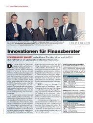 Innovationen für Finanzberater - INFINUS AG - Ihr Kompetenz-Partner
