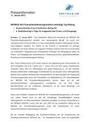 11.01.2013 Pressemitteilung INFINUS AG - INFINUS AG - Ihr ...