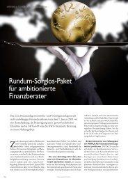 IINFINUS Finanzwelt 01/2013 - INFINUS AG - Ihr Kompetenz-Partner