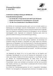 12-01-05 Creditreform-Rating - INFINUS AG - Ihr Kompetenz-Partner