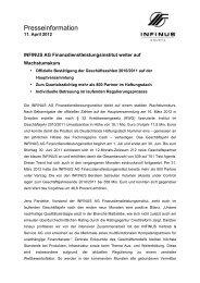 11.04.2012 Pressemitteilung INFINUS AG Hauptversammlung
