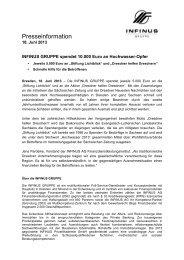Presseinformation - INFINUS AG - Ihr Kompetenz-Partner