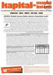 k-mi Insider-Report, 28. Mai 2010 - INFINUS AG - Ihr Kompetenz ...