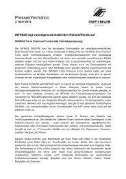 03.04.2012 Pressemitteilung INFINUS Terra Premium Fund