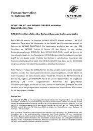 110912 Domcura - INFINUS AG - Ihr Kompetenz-Partner