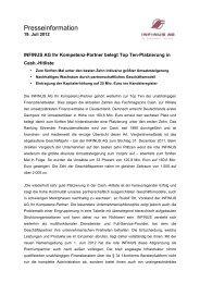 19.07.2012 Pressemitteilung INFINUS AG Ihr Kompetenz-Partner