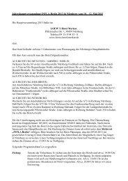 Jahreshauptversammlung INFLA-Berlin 2013 in Nürnberg vom 10