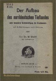 des norHdeutschen Tieflandes