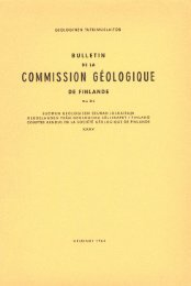 COMMISSION GEOLOGIOUE - Arkisto.gsf.fi