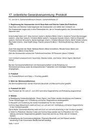 GV Protokoll 2013 - Genossenschaft Dreieck