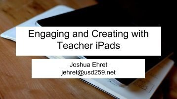 Engaging and Creating with Teacher iPads