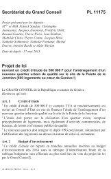 PL 11175 - ouvrant un crédit d'étude de 500'000F ... - Etat de Genève