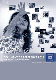 DOCUMENT DE RÉFÉRENCE 2011 - Info-financiere.fr