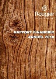 RAPPORT FINANCIER ANNUEL 2010 - Info-financiere.fr