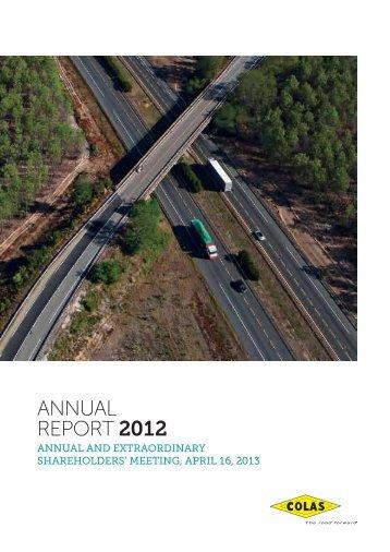ANNUAL REPORT 2012 - Info-financiere.fr