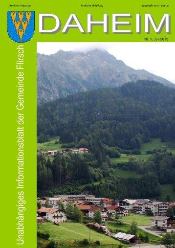Sommer 2013 - Gemeinde Flirsch - Land Tirol