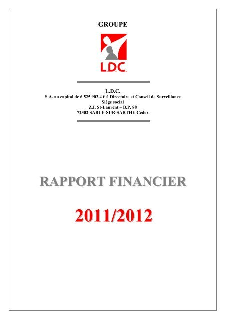 Page De Garde Rapport Financier 2011 2012 Info Financiere Fr