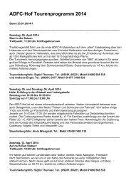 Tourenprogramm 2014 - ADFC Hof