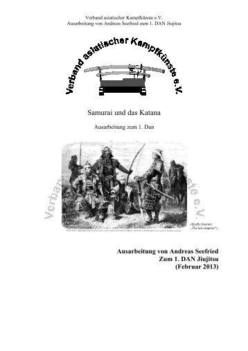 Samurai und das Katana (Andreas Seefried) - Sportschule Bushido ...