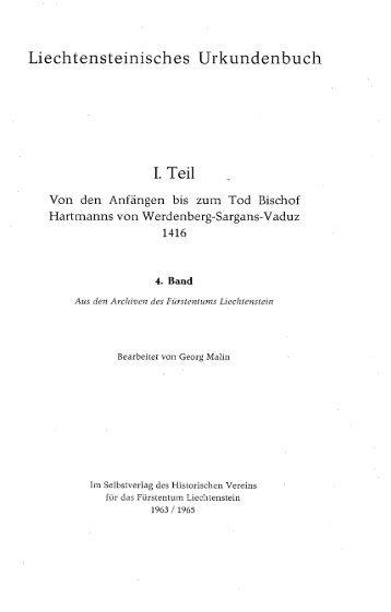 Liechtensteinisches Urkundenbuch L Teil - eLiechtensteinensia
