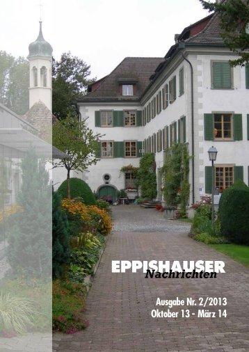 Ausgabe Nr. 2/2013 Oktober 13 - März 14 - Schloss Eppishausen