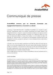 Communiqué de presse - Info-financiere.fr