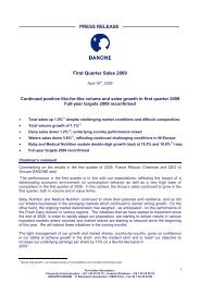 Danone Q1 09 Sales _GB - Info-financiere.fr