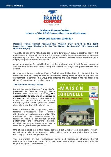 MFC 101208 Maison Energie-Calendrier 2009 GB - Info-financiere.fr