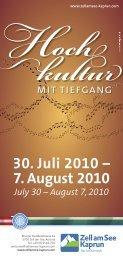 30. Juli 2010 – 7. August 2010 - Info-Graz