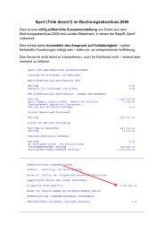 Sport (Teile davon?) im Rechnungsabschluss 2009 - Info-Graz